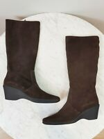 [ FILIPPO RAPHAEL ] Womens Brown Suede Leather Boots / Shoes   Size EUR 40