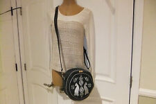 "KASYA Design Brand Gray w/ Cat Design Fabric Cross-body Handbag - Hungary, 10"""