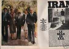 Coupure de presse Clipping 1979 Le Shah d Iran en exil  (12 pages)