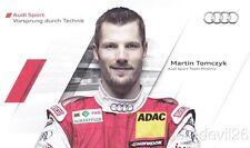 2011 Martin Tomczyk Audi Racing A4 DTM postcard