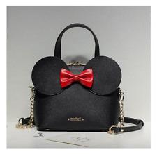 Fashion Handbags PU Leather Women Bag Mickey Mouse Big Ear Bow Chain Shoulder