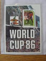 1986 World Cup Stamp Sheet: Spain v France Action (St Vincent)