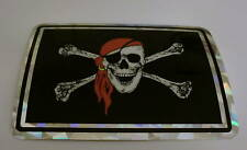 """3x4"" Pirate Skull with patch sticker/ Pirate Sticker"