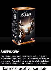 K-fee Espresto - CAPPUCCINO - 6x16=96 Kapseln - 3,43 € / 100 Gramm