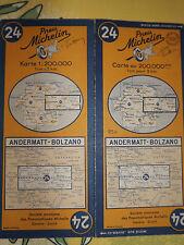 Carte michelin 24 andermatt bolzano 1952