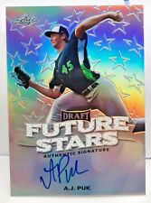 A.J. Puk 2016 Leaf Metal Draft Future Stars SILVER Prism Refractor on-card Auto