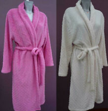 Ladies Indigo Sky Fleece Thick fluffy dressing gown robe nightwear spotted New
