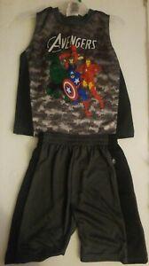 NWT Marvel Comics Avengers Boys Camo Tank Top & Shorts Combo Size 5/6