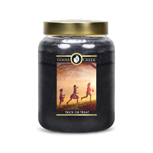 ☆☆TRICK OR TREAT☆☆LARGE GOOSE CREEK CANDLE JAR 24 OZ.☆☆FREE EXPEDITED SHIPPING