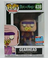 Funko Pop! Animation Rick and Morty #438 2018 NYCC Gearhead + Protector Damaged