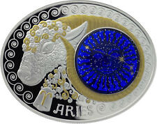 ARIES Signs of the Zodiac 10 Denars Macedonia Silver Coin 2015