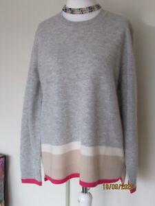 NWT Trenery soft Wool Colourblock Knit - L & XL