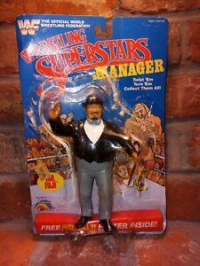 Mr. Fuji Wrestling Manager Figure Complete Poster CANE 1986 LJN vtg card WWF WWE