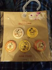 Junk Food Mickey Mouse Button Set 5 Count