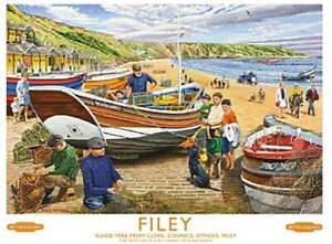 Filey, Yorkshire Beach Scene Railway Advert  small steel sign 200mm x 150mm (og)
