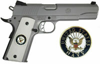 1911 Colt Full Size & Clones US AIR FORCE Emblems In Ivory Polymer Grips (GR3)