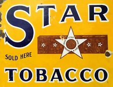 "TIN SIGN ""Star Tobacco"" Nicotine Deco Garage Wall Decor"