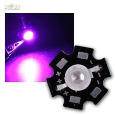 LED de alto rendimiento a chip placa 3w UV luz negra highpower travioleta