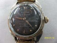 1955 vintage BULOVA 23 JEWEL AUTOMATIC Stainless Steel Mens watch L5 Runs good