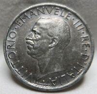 ITALY 5 lire 1927 R XF Eagle Vittorio Emanuele #AA01