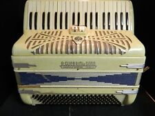 Vintage A. Guerrini & Sons Ivory Mother of Pearl Accordion 120 Bass 41 Keys Good