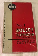 Vintage BOLSEY FLASHGUN  No. 1 w/box CAN BE CONVERTED INTO STAR WARS LIGHTSABER