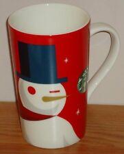 """Starbucks SNOWMAN Christmas MUG 5.75"""" Tall 16 oz.  2012"""
