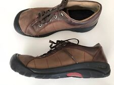 KEEN XT 0606 Brown Leather Shoes Size 9.5 Womens Lace Up Oxford Style