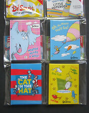 "Dr. Seuss 4 Small Colorful Notebooks 82 Blank Pages In Each 2"" x 3"" Brand New!"