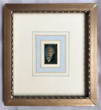 Miniature Painting of Gentleman Framed and Matted Dated 1809
