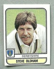 PANINI.. CRICKET 83...X 1 STICKER. ..# 16   STEVE OLDHAM    DERBYSHIRE  ...VG