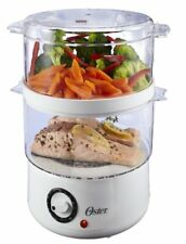 Electric Food Steamer Cooker Vegetable Kitchen Meat Steaming 2 Tier 5-Quart