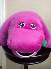 "Barney Purple Green Dinosaur Pillow Pet Plush Stuffed Animal 20"""