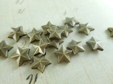 45 Antique Brass Plated Star Beads Findings 47860p