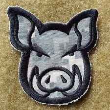 PIG HEAD WILDSAU TACTICAL MORALE AUFNÄHER KLETT PATCH AIRSOFT ACU UCP NEU