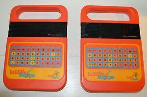 LOT Ancien jouet électronique LA DICTEE MAGIQUE Vintage 1980 TEXAS INSTRUMENT