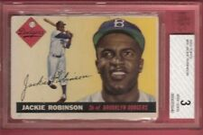 JACKIE ROBINSON 1955 TOPPS CARD #50 GRADED Beckett BVG 3 VERY GOOD JERSEY #42