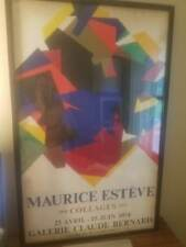 MAURICE ESTEVE COLLAGES 1974 POSTER POP ART CULTURE GALERIE CLAUDE BERNARD
