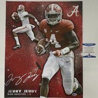 Autographed/Signed JERRY JEUDY Alabama Crimson Tide 16x20 College Photo BAS COA