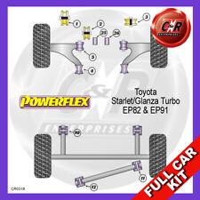 Fits Starlet/Glanza Turbo EP82 Rear Beam Bushes 48.5mm Powerflex Full Bush Kit