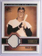 2002 UD SP Legendary Cuts Roger Maris Jersey #JRMA *65722