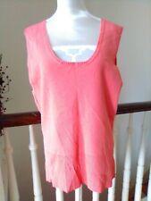 NWOT Scott Taylor Women sz M Tangerine Scoop Neck Vest 65% Viscose 35% Nylon T40