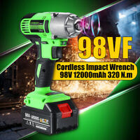 98VF 320NM 1/2'' Electric Cordless Drill Impact Wrench Torque Tool Lock LED