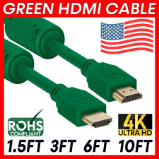 Green HDMI Cord Ultra HDMI Cable HDTV 4K 3D ARC Ethernet Channel for PC XBOX PS5