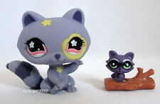 Littlest Pet Shop *NEW* Flowered RACCOON  Mommy & Baby #597 FREE SHIPPING