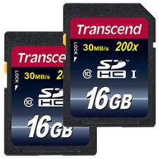 Transcend 2x 16GB Class 10 SDHC  2 x 16 GB Doppelpack SD HC Karte TS16GSDHC10
