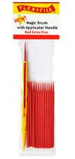 Flex-i-file magic Cepillos con mango Aplicador Rojo 18 Cepillos Extra Fino