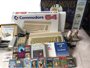 Commodore 64 Computer C64 Boxed with Cassette Joysticks & Games
