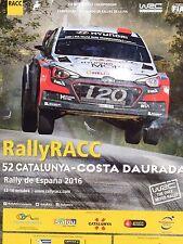 Rally RACC Catalunya Rally de Espana Official WRC Programme 2016    110 Pages