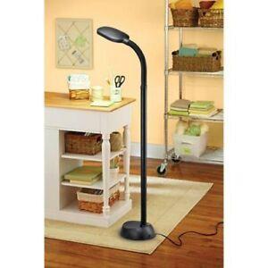 """Home Office Full Spectrum Fluorescent 1300 Lumens Daylight Floor Lamp 54"""" Black"""